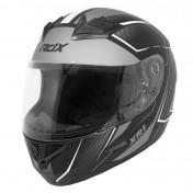 HELMET-FULL FACE ADX XR1 SHADOWS MATT BLACK/WHITE - XXL