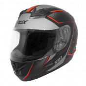 HELMET-FULL FACE ADX XR1 SHADOWS MATT BLACK/RED - L