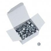 ECROU 6 PANS NYLSTOP/FREIN DIAM M5 (BOITE DE 100 PIECES) (813000) -ALGI-