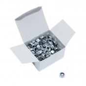 ECROU 6 PANS NYLSTOP/FREIN DIAM M8 (BOITE DE 100 PIECES) (816000) -ALGI-