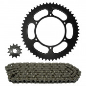CHAIN AND SPROCKET KIT FOR APRILIA 50 RS 2006>2013, 50 RS4 2011>2013 420 53x12 (OEM SPECIFICATIONS) -TOP PERFORMANCES-