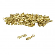 ELECTRIC CABLE TERMINAL - FEMALE 2.8 x 1 RS 7785 BRASS (Per 100 in a bag)