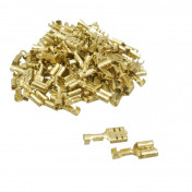 ELECTRIC CABLE TERMINAL - FEMALE 6.3 BRASS (Per 100 in a bag) -SELECTION P2R-
