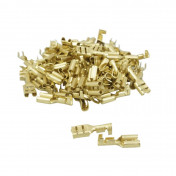 ELECTRIC CABLE TERMINAL - FEMALE 4.8 BRASS (Per 100 in a bag) -SELECTION P2R-