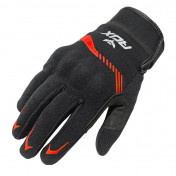 GLOVES-SPRING/SUMMER ADX VISTA WITH KNUCLE ARMOR- BLACK/RED EURO 9 (M) (APPROVED EN 13594:2015)