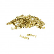 ELECTRIC CABLE TERMINAL- FEMALE 2,8X1 RS 7785 BRASS - (SOLD PER 50 IN A PACK)