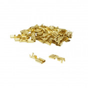 ELECTRIC CABLE TERMINAL- FEMALE 4,8X1 RS 7603 BRASS - (SOLD PER 50 IN A PACK)