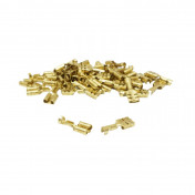 ELECTRIC CABLE TERMINAL- FEMALE 6,3X1 RS 7900 BRASS - (SOLD PER 50 IN A PACK)
