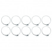 COLLIER DE SERRAGE METAL A CREMAILLERE 60x80mm (SACHET DE 10 PIECES) LARGEUR 9mm -SELECTION P2R-