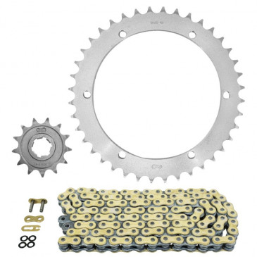 CHAIN AND SPROCKET KIT FOR YAMAHA 350 YFM X WARRIOR 1989>2004 520 13x40 (Ø REAR SPROCKET 152/164/8.5) (OEM SPECIFICATIONS) -AFAM-