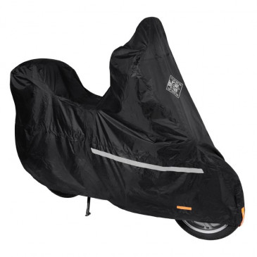 PROTECTIVE COVER FOR SCOOT SCOOT TUCANO START 218B WATERPROOF/BLACK - FOR SCOOTERS WITH WINDSHIED AND TOP-CASE (LONG 204cm - WD 86cm - H. 163cm) (218PRO)