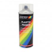APPRET PEINTURE MOTIP PRIMER PRO SPECIAL PLASTIQUE TRANSPARENT (AEROSOL/BOMBE 400 ml) (04063)
