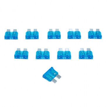 CLASSICAL FLAT FUSE 15A (SOLD PER 10 IN A BAG)