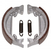 BRAKE SHOE FOR MOPED PEUGEOT 103 SP-MVL -FRONT+REAR- (Ø 80mm - LELEU TYPE, 2 SPRINGSS) (SOLD IN PAIRS)