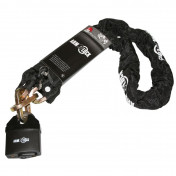 MOTORCYCLE ANTITHEFT- ARMLOCK CHAIN WITH SAFETY LOCK 1,20M (LINK Ø 9,5mm)