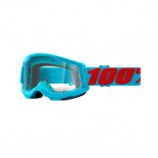 MASQUE/LUNETTES CROSS 100% ADULTE STRATA 2 SUMMIT BLEU ECRAN TRANSPARENT ANTI-BUEE/ANTI-RAYURES