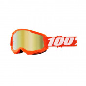 MASQUE/LUNETTES CROSS 100% ADULTE STRATA 2 ESSENTIAL ORANGE ECRAN MIROIR ANTI-BUEE/ANTI-RAYURES
