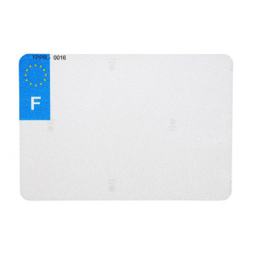 PLASTIC STRIP FOR PVC LICENSE PLATE WITH LOGO F (MOTORBIKE FORMAT 210X145)- (SOLD PER UNIT)