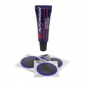 TUBELESS TYRE REPAIR KIT - VTT HUTCHINSON - INSIDE MOUNTING PATCHES - IN BOX : 3g GLUE + 4 PATCHES 25mm)