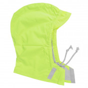 UNIVERSAL FLUO YELLOW HOOD - WITH VELCRO TAPE AND LACE - WATERPROOF