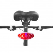BICYCLE REAR LIGHT - REAR- ON SEATPOST - WIRELESS REMOTE CONTROL ON HANDLEBAR-TURN LIGHTS- RECHARGEABLE ON USB