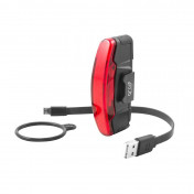 BICYCLE TAILLIGHT ON BATTERY - RECHARGEABLE ON USB - SPANNINGA ARCO - BLACK- 3 FONCTIONS :STANDARD, ECO, FLASH (BATTERY LIFE : 5h to 10h)