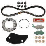 """MAINTENANCE KIT """"PIAGGIO GENUINE PARTS"""" 50 FLY 2 stroke 2005> (WITH SLIDING GUIDES) -1R000386-"""