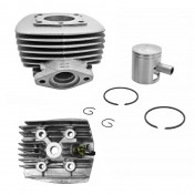 COMPLETE CYLINDER KIT FOR MOPED PEUGEOT 103 MVL-SP/SPX-RCX/VOGUE AIR COOLING -ALU NIKASIL P2R-ONLY FLANGE EXHAUST MOUNTING