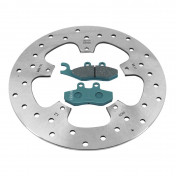 BRAKE KIT (DISC + PADS) FRONT OR REAR OEM PIAGGIO 125-250-300 BEVERLY, CARNABY -
