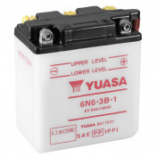 BATTERY 6V 6,3Ah 6N6-3B-1 YUASA - WITH MAINTENANCE (L99-W57-H111) (Lg99xL57xH111)