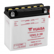 BATTERY 12V 5,5 Ah 12N5.5-3B YUASA WITH MAINTENANCE (Lg135xL60xH130)