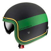 HELMET-OPEN FACE MT LE MANS 2 SV TANT BLACK/YELLOW/GREEN-MATT- S