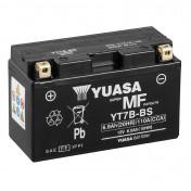 BATTERY 12V 6,5 Ah YT7B-BS YUASA MAINTENANCE FREE DELIVERED WITH ACID PACK (Lg150xL65xH93)