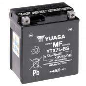 BATTERIE 12V 6 Ah YTX7L-BS YUASA MF SANS ENTRETIEN LIVREE AVEC PACK ACIDE (Lg114xL71xH131)
