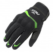 GLOVES-SPRING/SUMMER ADX VISTA WITH KNUCLE ARMOR- BLACK/KAWA GREEN EURO 12 (XXL) (APPROVED EN 13594:2015)