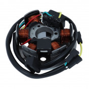 IGNITION STATOR FOR 50cc ENGINE - DERBI/PIAGGIO 50 - Speed -WITH ELECTRIC STARTER (6 poles) -SELECTION P2R-