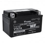 BATTERIE 12V 6 Ah YTX7A YUASA AGM ACTIVEE EN USINE PRETE A L'EMPLOI (Lg150xL87xH94)
