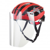 UNIVERSAL HELMET VISOR - POLISPORT - CLEAR (SUPPLIED WITH 4 CLAMPS) (APPROVED UE 2016/425)