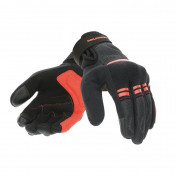 GLOVES-SPRING/SUMMER TUCANO -FOR LADY- LADY PENNA BLACK/RED - EURO 8 (M) (APPROVED EN 13594:2015-CE) (TOUCH SCREEN FUNCTION)