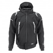 JACKET - ADX RSX BLACK/WHITE XL -WITH REMOVABLE HOOD-WITH PROTECTIONS EXCEPT BACK PROTECTOR- (APPROVED NF EN 17092-4 : 2020)