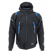 JACKET - ADX RSX BLACK/BLUE S -WITH REMOVABLE HOOD-WITH PROTECTIONS EXCEPT BACK PROTECTOR- (APPROVED NF EN 17092-4 : 2020)