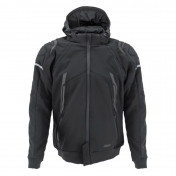 JACKET - ADX RSX BLACK/GREY 2XL -WITH REMOVABLE HOOD-WITH PROTECTIONS EXCEPT BACK PROTECTOR- (APPROVED NF EN 17092-4 : 2020)