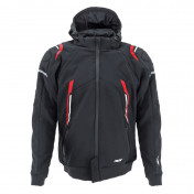JACKET - ADX RSX BLACK/RED XL -WITH REMOVABLE HOOD-WITH PROTECTIONS EXCEPT BACK PROTECTOR- (APPROVED NF EN 17092-4 : 2020)