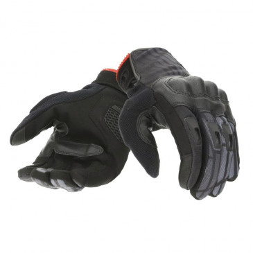 GLOVES-SPRING/SUMMER TUCANO -FOR MEN- STACCA BLACK EURO 10 (L) (APPROVED EN 13594:2015-CE) (TOUCH SCREEN FUNCTION)