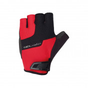 ADULT CYCLING GLOVES- CHIBA GEL CONFORT BLACK/RED - M - CARPAL TUNNEL PROTECTION- (PAIR)