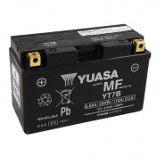 BATTERY 12V 6,5 Ah YT7B YUASA AGM -FACTORY ACTIVATED- READY FOR USE (Lg150xW65xHt93)