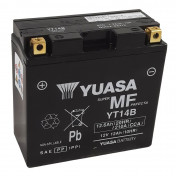 BATTERY 12V 12 Ah YT14B YUASA AGM -FACTORY ACTIVATED- READY FOR USE (Lg150xW70xHt145)