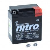 BATTERY 12V 3 Ah NB3L NITRO SLA MAINTENANCE FREE READY FOR USE (Long 98mm x Wd 56mm x Ht 110mm)