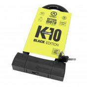 ANTIVOL U AUVRAY K10 BLACK EDITION 85x230mm (DIAM 18mm) (CLASSE SRA)