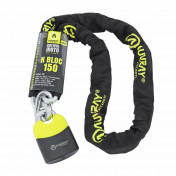 MOTORCYCLE ANTITHEFT- CHAIN LOCK AUVRAY K.BLOCK 1.50M -Ø 10mm LINK- LOCK SIZE : 74x112mm
